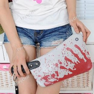 Knife style clutch bag